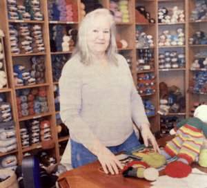 Anne Schneck owner of Infinite Yarns in Farmingdale, NY