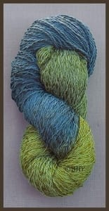 Blue Heron Cotton and Rayon Twist Lace Yarn Deep Forest