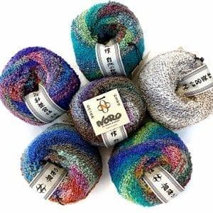NORO Kanzashi Yarn group photo