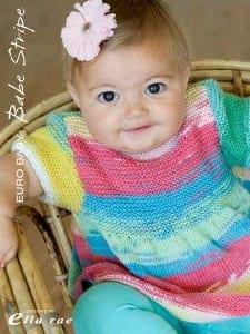 Euro Baby Babe Stripe Knitting Book 110 by Ela Rae