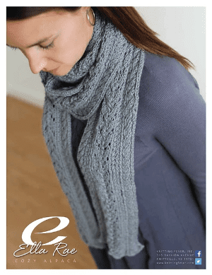 Cozy Alpaca Cable and Lace Scarf Kit