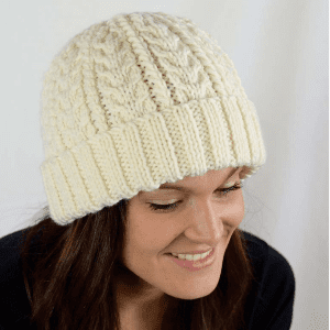 Ella Rae Chunky Merino Superwash Cabled Hat Kit