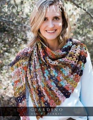 Louisa Harding Giardino Perris Shawl Crochet Kit