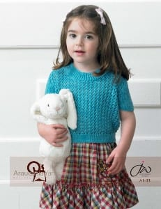 Araucania Huasco DK Child's Lacy Top Leaflet A1-03