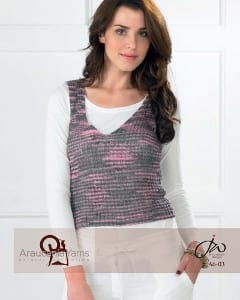 Araucania Yumbrel V Neck Top Leaflet A6-03