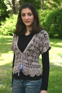 Artyarns Silk Blossom Cardigan Crocheted Pattern I 111