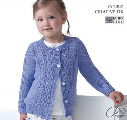 Cable and Lace Cardigan Kit