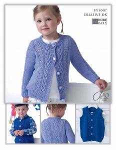 Euro Baby Criative DK Children Cardigan & Waistcoat leaflet EY 1007