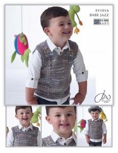 Euro Baby Babe Jazz Boys Slipover Vest leaflet EY1016