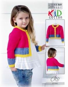 Euro Baby Kid Cotton Girls Raglan Cardigan Leaflet EY1002