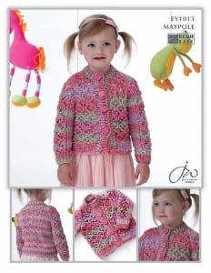 Euro Baby Maypole Girls Cardigan Leaflet EY 1013