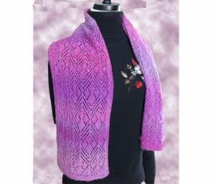 Jojoland Grass Pink Scarf pattern PJ 035