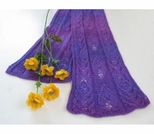 Jojoland Lavender Passion Scarf Pattern MS 28-01