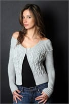 Karabella Cabled Cardigan Sweater Pattern KK 183
