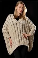 Karabella Aurora Bulky Oversized Shaped Open Cable Sweater Pattern KK 633