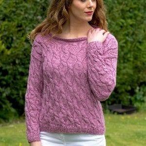 Araucania Lydia Jumper Cable Sweater Kit - Alpaka Reina Yarn