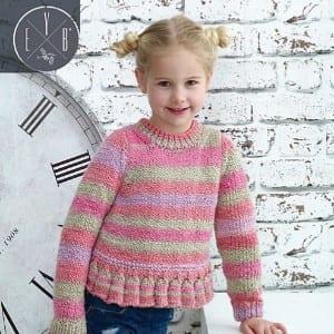 Maypole Frances Sweater Knitting Kit - Ages 4/5 or 5/6