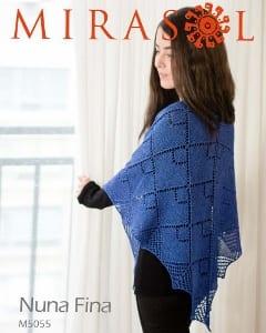 Mirasol Nuna Fina Geode Shawl Leaflet pattern M5055