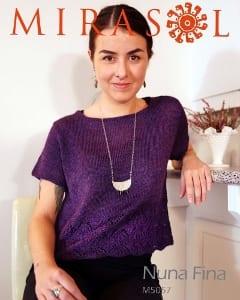 Mirasol Nuna Fina Vintage Lace Edged Tee Leaflet Pattern M5057