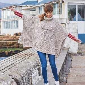 Sirdar No. 1 Chunky Poncho Knitting Kit 8179