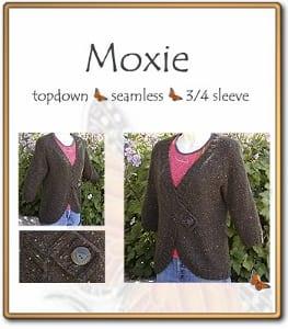 c2Knits Moxie Cardigan Sweaater Pattern