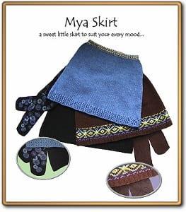 c2Knits Mya Skirt pattern