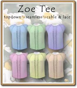 c2Knits Zoe Tee Top pattern