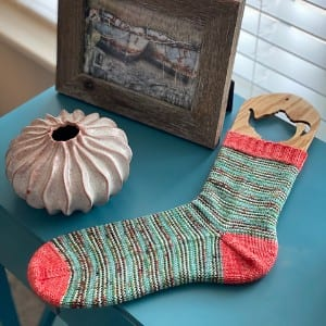 Dream in Color Sock It Club Afterthought Heel Sock Pattern