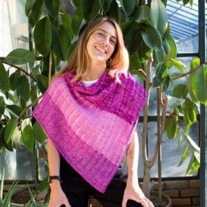 Gradient Garden Trellis Shawl - Urth Yarns Kit
