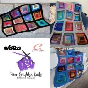 Noro Log Cabin Blanket Kit by Pam Grushkin